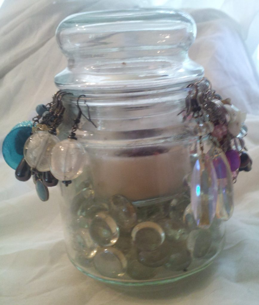 Jar Candle Earring Holder