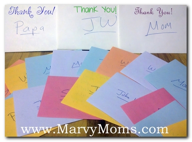 A Month of Thanks, a Day of Sharing Thanks - Marvy Moms
