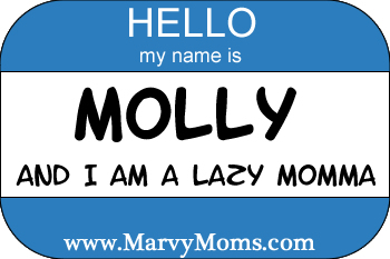 Hello My Name is Molly and I'm a Lazy Momma - Marvy Moms