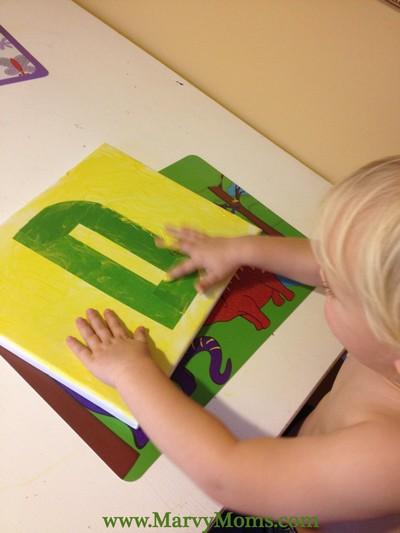 Tape Resist Initials: Fun Decorating for Kids - Marvy Moms