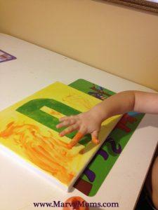 Tape Resist Initials: Fun Decorating for Kids