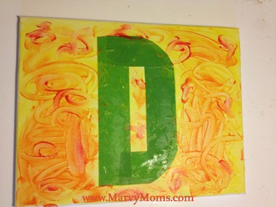 Tape Resist Initials: Fun Decorating for Kids - Marvy Moms