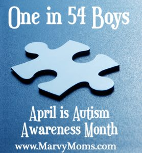One in 54 Boys: April is Autism Awareness Month