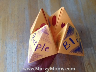 Fun with Paper Fortune Tellers