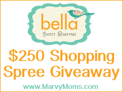 Bella Suite Bouthique $250 Shopping Spree Givewaway - Marvy Moms