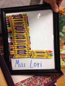 End-of-year Teacher Gift—Crayon Letters