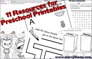 11 Resources for Preschool Printables