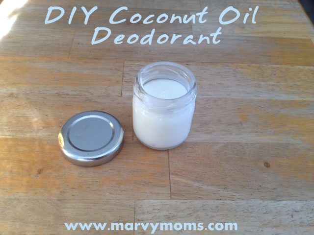 DIY Coconut Oil Deodorant - Marvy Moms