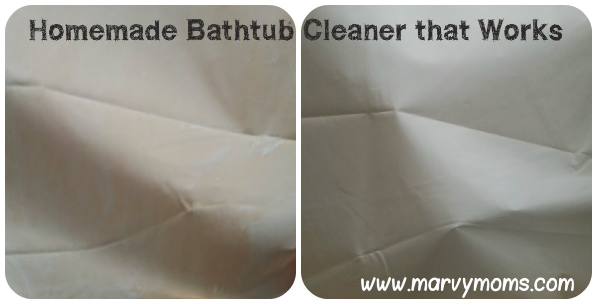 Homemade Bathtub Cleaner that Works - Marvy Moms