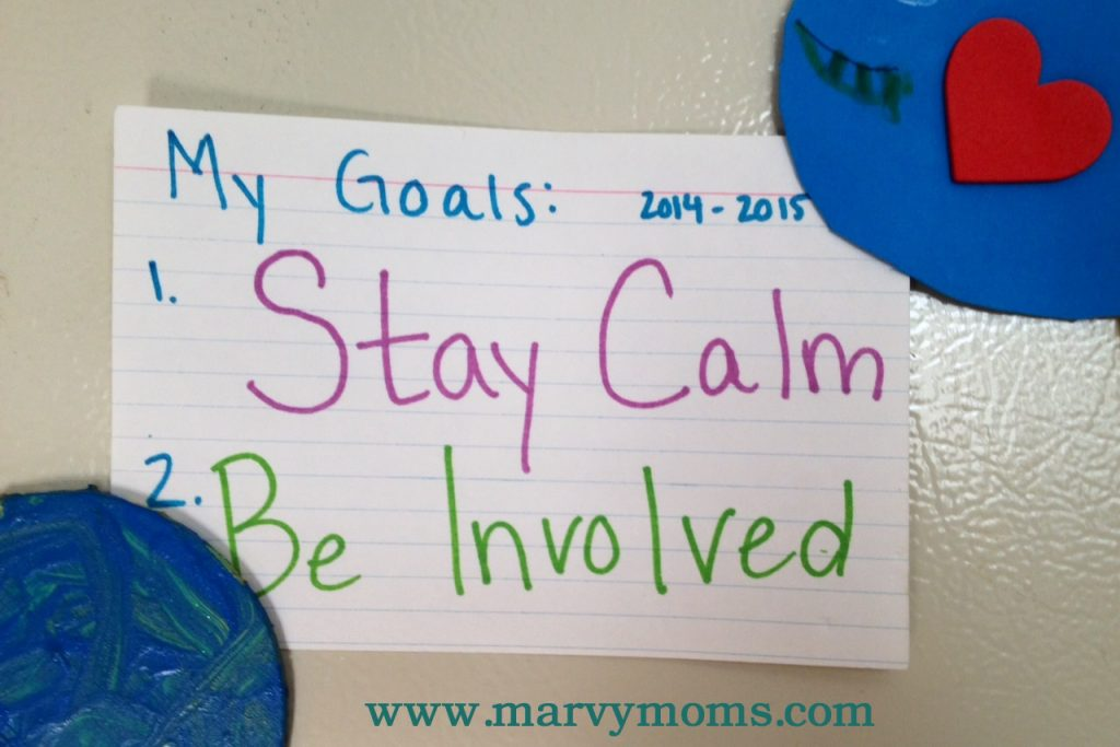 Two Mom Goals for the New School Year - Marvy Moms