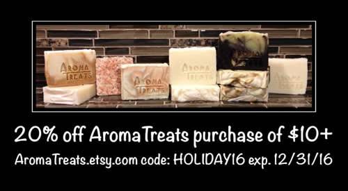 Aroma Treats 20% off $10+ order