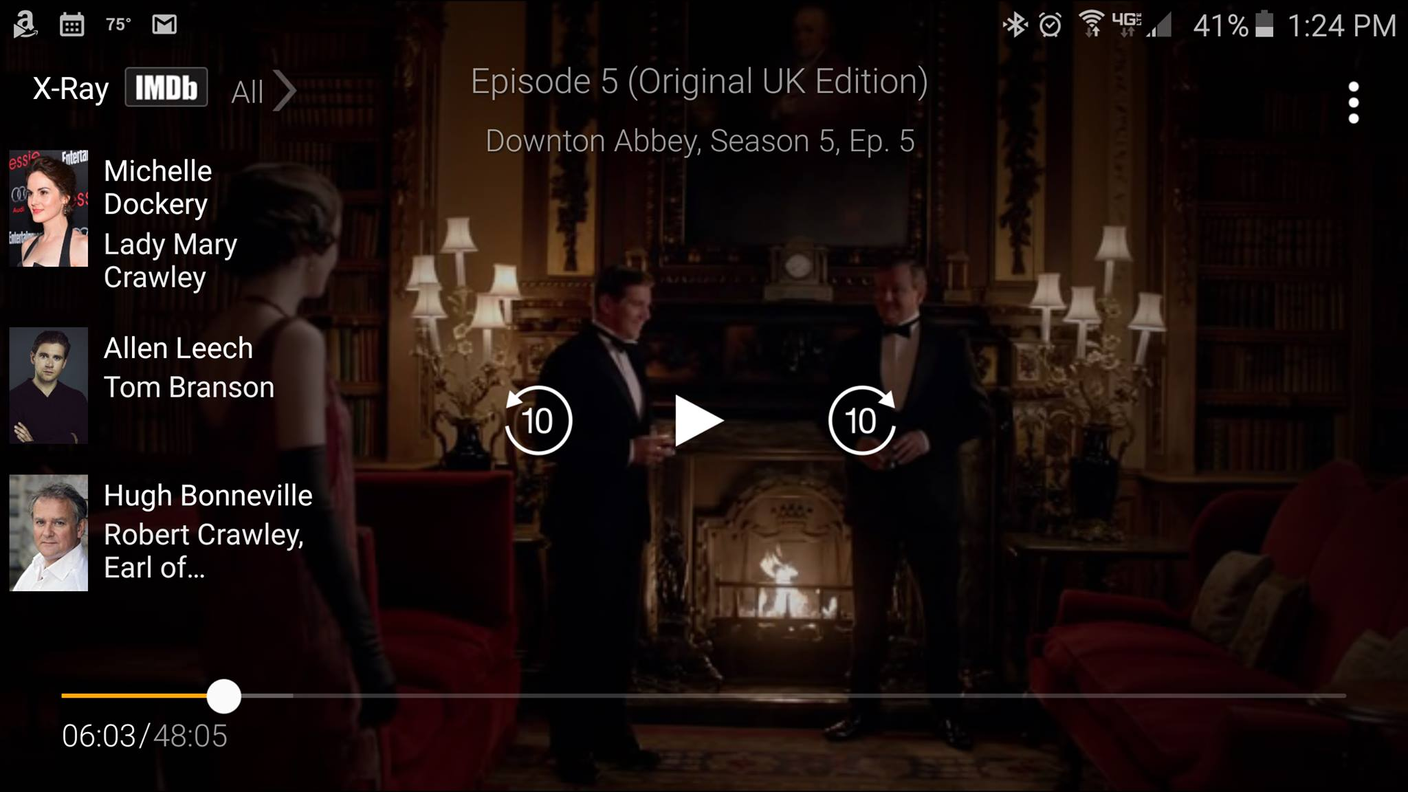 Downton Abbey with scene information
