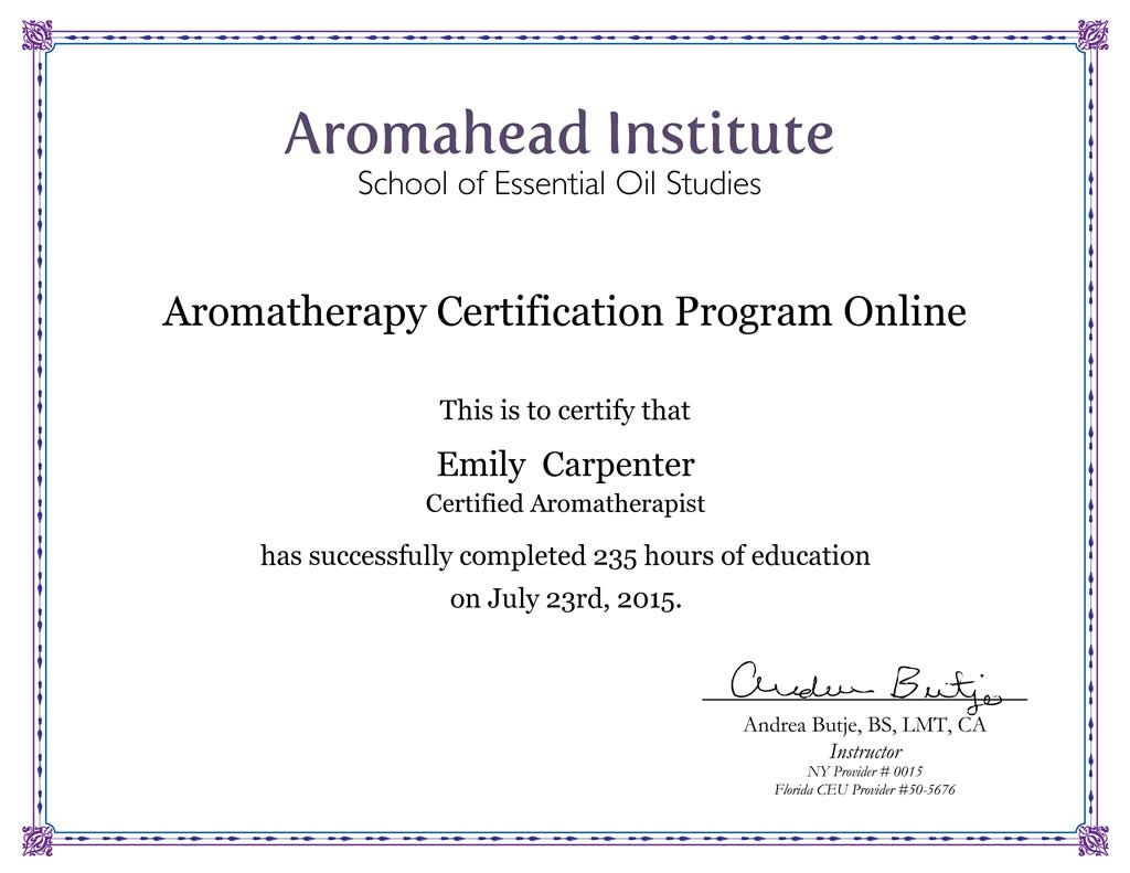 How I Became a Certified Aromatherapist