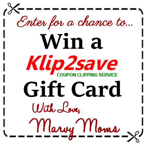 Enter for a chance to win a Klip2Save Gift Card from Marvy Moms