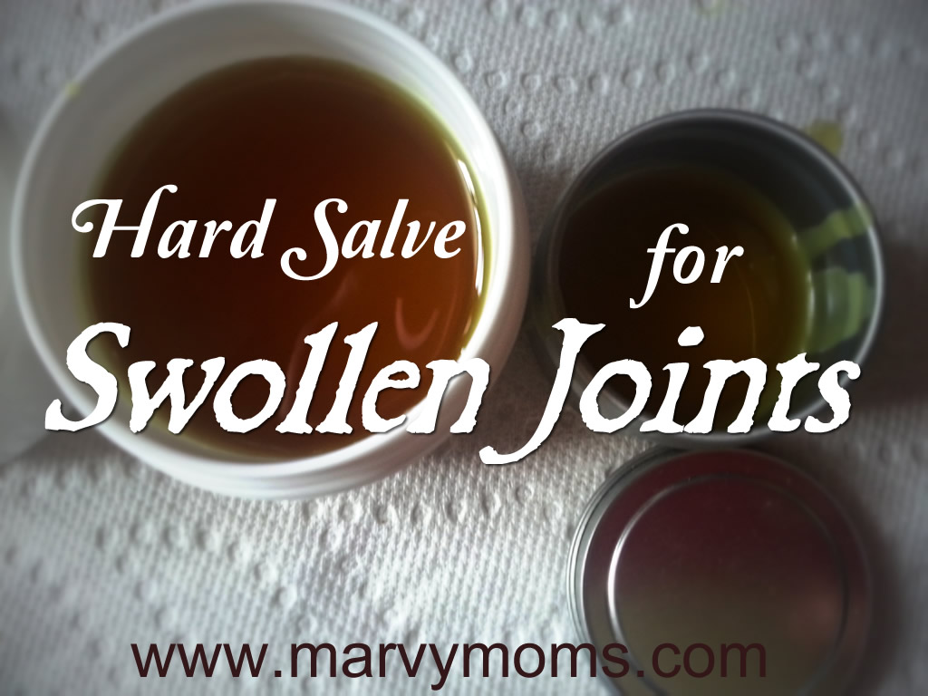 Making a Salve For Swollen Joints - Marvy Moms
