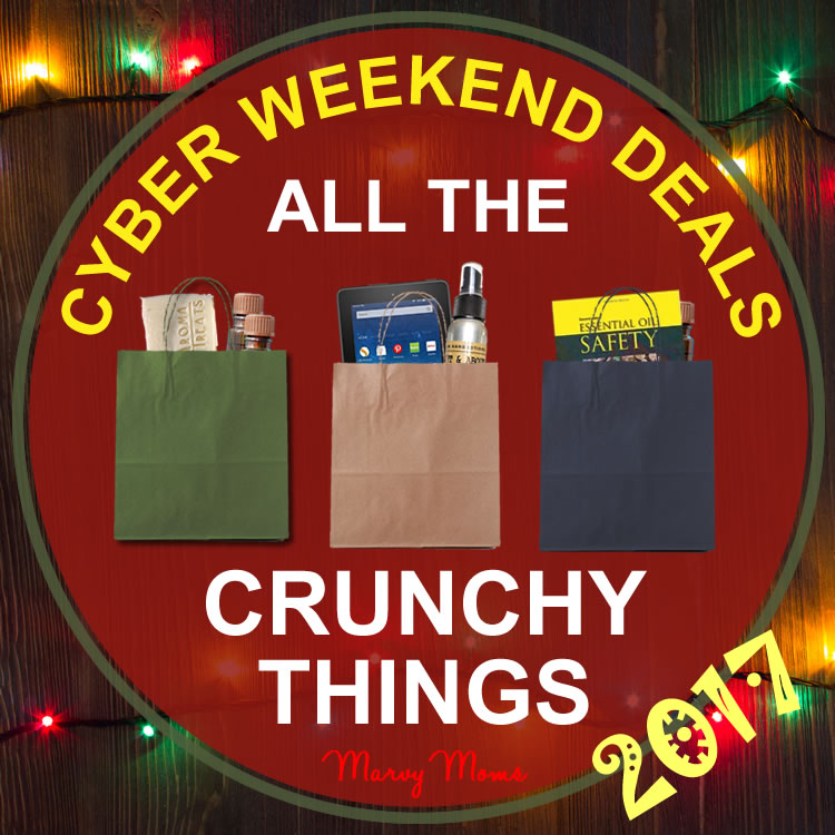 2017 Black Friday and Cyber Weekend Sales on All the Crunchy Things