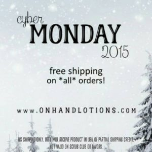 On Hand Lotions Cyber Monday Free Shipping