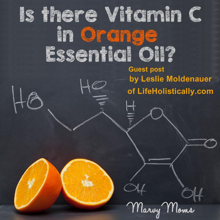 Is there Vitamin C in Orange Essential Oil?